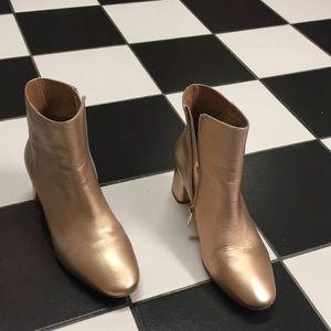 Matiko metallic leather booties
